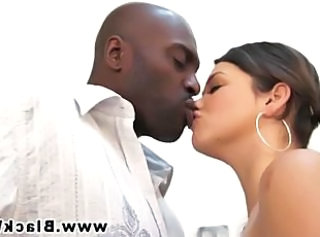 Interracial Kissing Pornstar