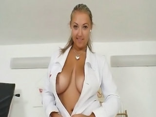 Amazing Big Tits Chubby Doctor  Natural  Stripper Uniform Giant