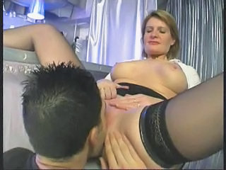 Licking  Mom Old and Young Stockings