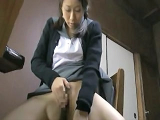 Asian Japanese Masturbating Student Teen Uniform Schoolgirl
