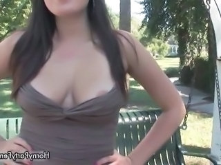 Nipples Outdoor Public Teen