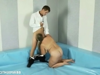 Blowjob Mom Old and Young Sport Wrestling