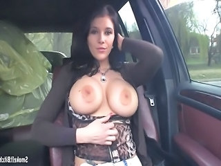 Big Tits Car  Public