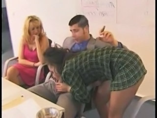 Blowjob Clothed European German  Threesome
