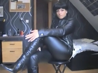 Amateur Fetish Homemade Latex  Smoking Leather