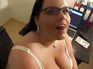 Cumshot Glasses  Office Pov Secretary Swallow