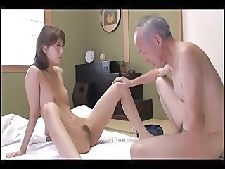 Asian Daddy Daughter Old and Young Skinny Small Tits Daughter