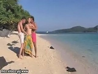 Beach Outdoor Threesome