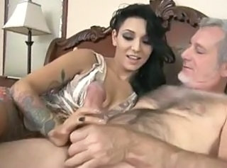 Daddy Daughter Handjob Old and Young Tattoo Teen