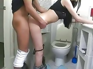 Doggystyle Teen Toilet Bathroom