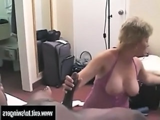 Amateur  Handjob Interracial Mature Mom