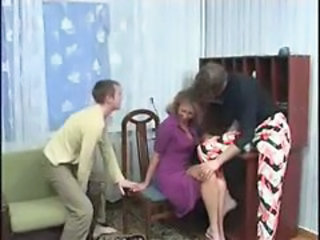 Amateur  Mom Old and Young Russian Threesome