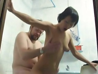 Amateur Daddy Daughter Old and Young Riding Teen Toilet