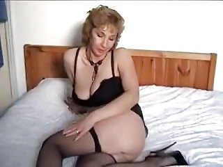Big Tits Mature Mom Natural Stockings