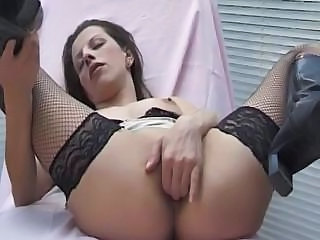 Masturbating  Stockings Insertion