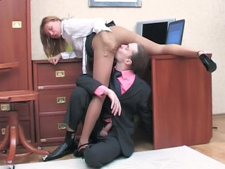 Clothed Licking Pantyhose Secretary