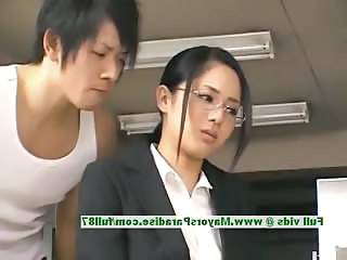 Amazing Asian Cute Glasses  Office Secretary Chinese Innocent