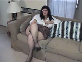 Big Tits Glasses Mature Mom Stockings