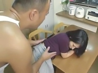 Asian Clothed Doggystyle Kitchen Wife