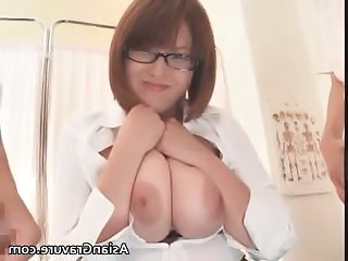 Asian Big Tits Glasses Japanese  Natural Teacher