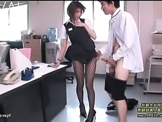 Amazing Asian Japanese Legs  Office Pantyhose Secretary Uniform