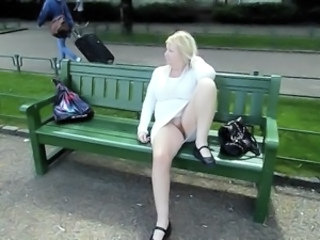 Outdoor Public Upskirt Voyeur Wife