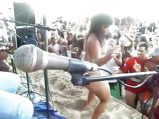 Amateur Brazilian Dancing Latina Outdoor Party