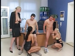 Blowjob European German Groupsex  Office German