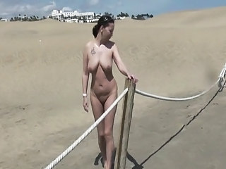 Beach Big Tits  Natural Nudist Outdoor