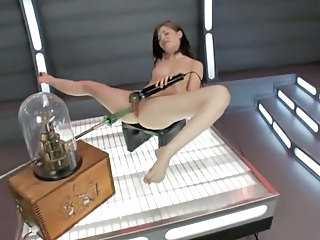Machine Masturbating Pornstar Solo Toy