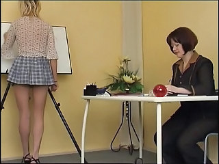 Lesbian  Old and Young School Student Teacher Teen