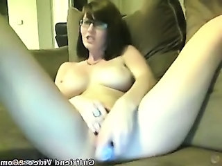 Glasses Masturbating Solo Teen Webcam Dirty