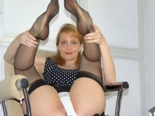 Legs Mature Mom Panty Stockings