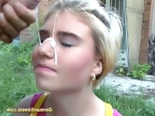 Cumshot Facial European German Outdoor Piercing Public Teen German