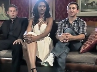 Big Tits Ebony Interracial  Old and Young Threesome
