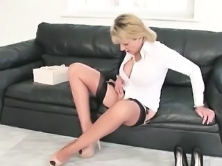 Big Tits British European Masturbating  Stockings Vagina British