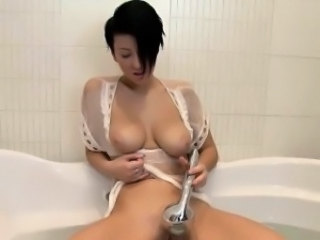 Babe Bathroom Big Tits Masturbating Natural Solo