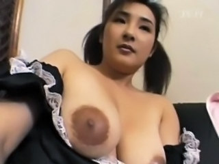 Asian Big Tits Maid  Natural Nipples Uniform