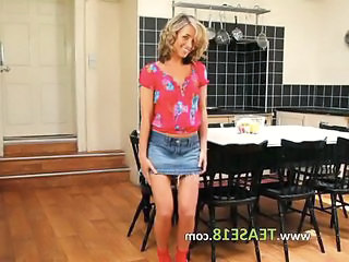 Jeans Kitchen  Skirt Solo Stripper