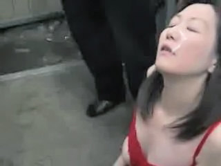 Asian Cumshot Facial Japanese Slave