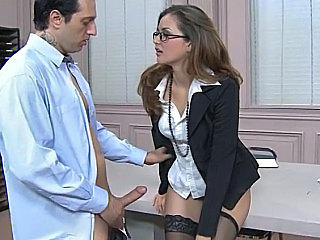 Amazing Glasses Office Secretary Stockings Babe Ass Office Babe Stockings