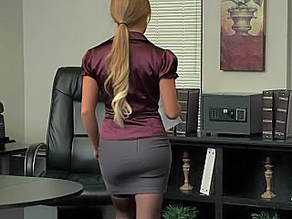 Office Blonde Babe Amazing Secretary Skirt Office Babe Office Pussy