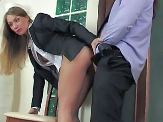 Clothed Hardcore Office Secretary Boss Office Pussy