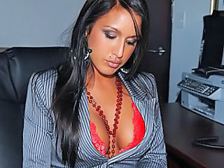Amazing Brunette Office Secretary Office Pussy