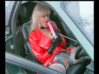 Car Clothed Dildo Latex Toy