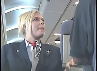 Handjob Uniform  Blonde Stewardess