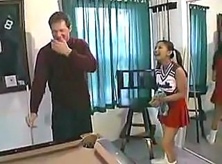Cheerleader Asian Old and Young Pigtail Skirt Uniform Cheerleader Old And Young