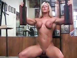 Amazing Blonde Clit  Muscled Sport