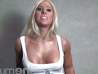 Blonde  Muscled Fitness