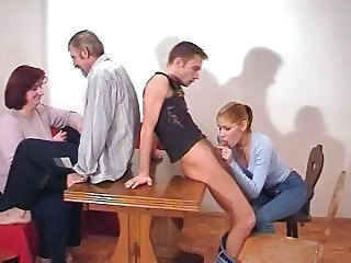Family Blowjob Redhead Tits Mom Tits Job Family Russian Mom